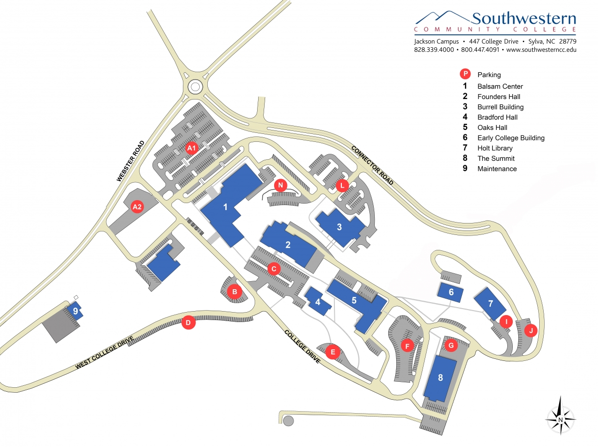 Map of Jackson Campus