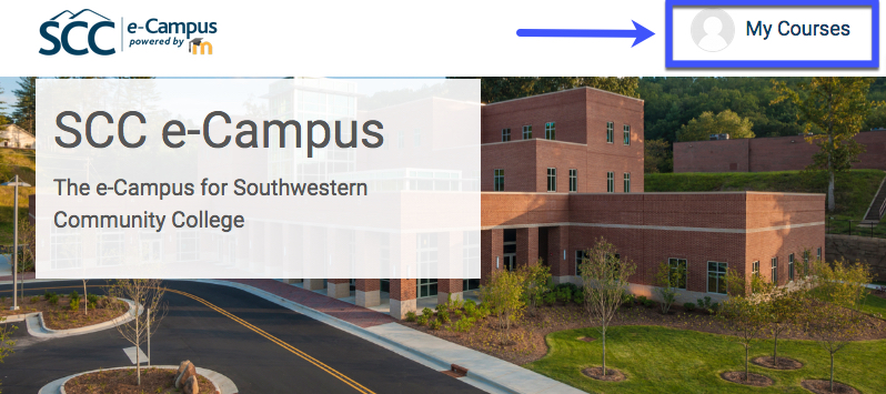 image of SCC's e-Campus website