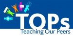 TOPs - Teaching Our Peer logo, descriptive only