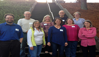 SCC basic skills instructors pictured outside at the Jackson Campus.