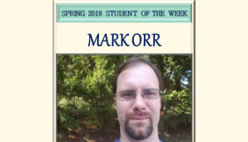 SCC student of the week Mark Orr.