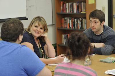 Photo of instructor and students at Macon Campus